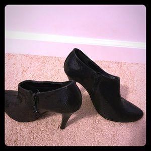 Charlotte Russe Black Sequin Zippered Booties